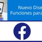 Nuevas funciones y diseño en las páginas de Facebook